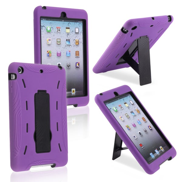BasAcc Black/ Purple Hybrid Case with Stand for Apple iPad Mini
