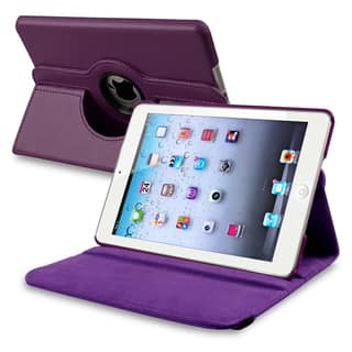 INSTEN Purple Leather Swivel Tablet Case Cover for Apple iPad Mini 1/ 2 Retina Display|https://ak1.ostkcdn.com/images/products/7509861/7509861/BasAcc-Purple-Leather-Swivel-Case-for-Apple-iPad-Mini-P14950385.jpeg?impolicy=medium