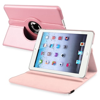 INSTEN Light Pink Leather Swivel Tablet Case Cover for Apple iPad Mini 1/ 2 Retina Display