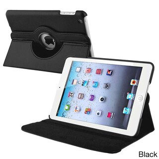 INSTEN Leather Swivel Tablet Case Cover for Apple iPad Mini 1/ 2 Retina Display (Option: Black)