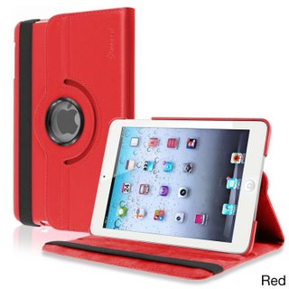 INSTEN Leather Swivel Tablet Case Cover for Apple iPad Mini 1/ 2 Retina Display (Option: Red)