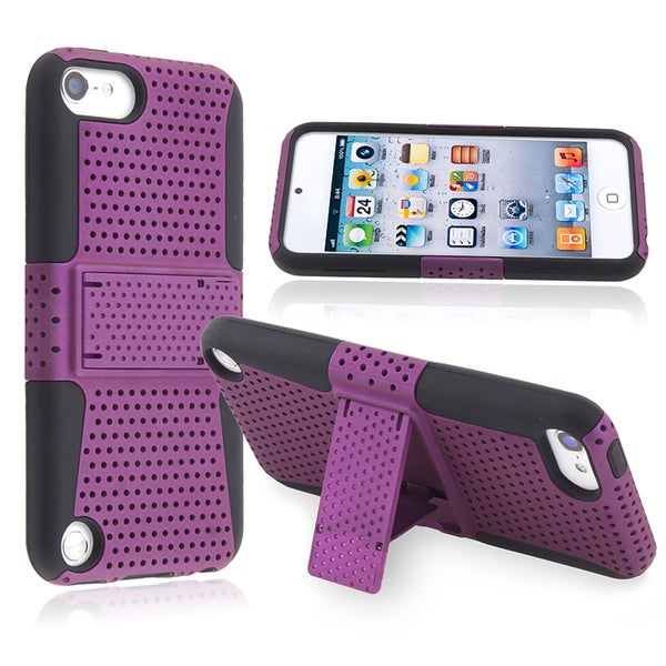 BasAcc Black Skin/ Purple Hard Case for Apple iPod Touch Generation 5