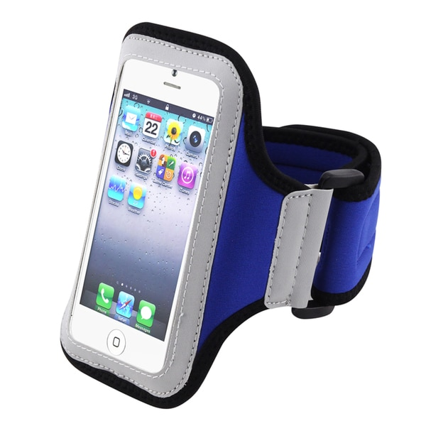 BasAcc White/Blue Sportband for Apple iPhone 5/iPod touch 5th Generation/ 5S
