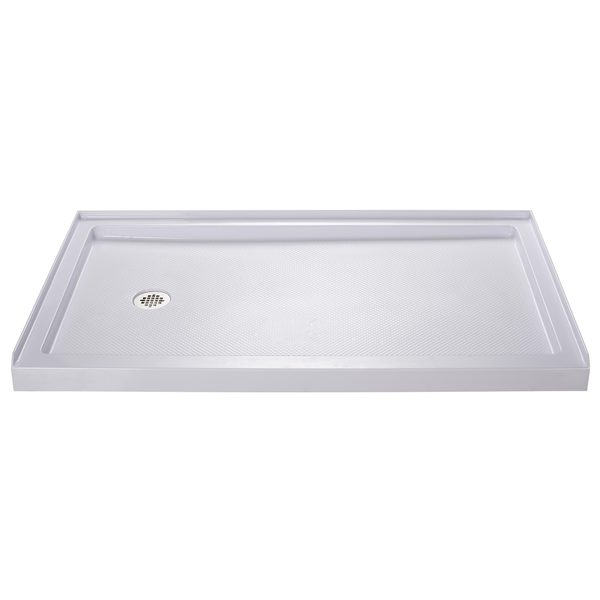 Dreamline slimline 30 x 60 inch single threshold shower base free shipping today overstock - 30 x 60 shower pan ...