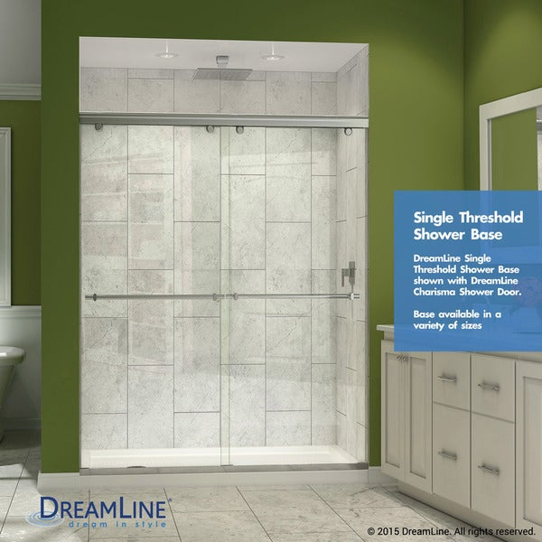 Delightful Single Threshold Shower Base   Free Shipping Today   Overstock.com    14951173