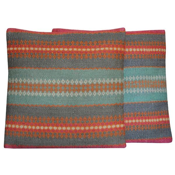 Herat Oriental Indo Tribal Kilim Pillows (Set of 2)