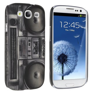 INSTEN Black Radio Recorder Snap-on Phone Case Cover for Samsung Galaxy S III/ S3