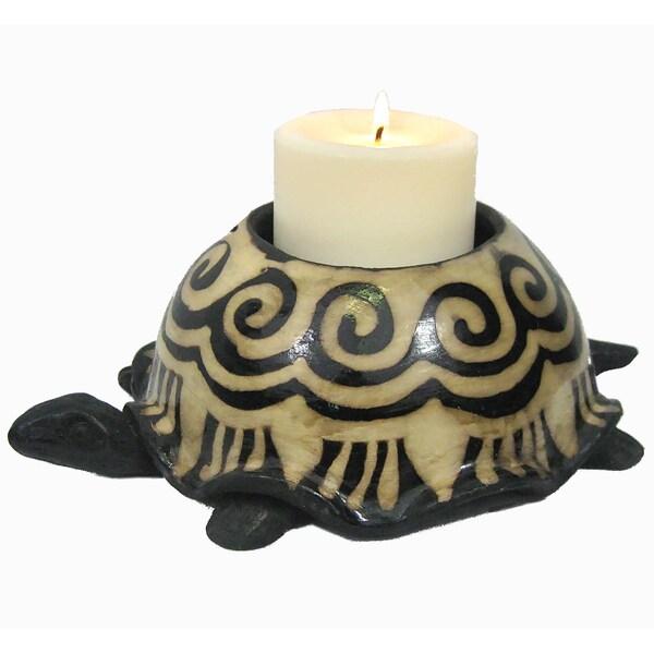 Turtle Clay Candle Holder (Honduras)