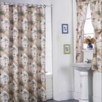 California Palm Shower Curtain Set And 4 Piece Window