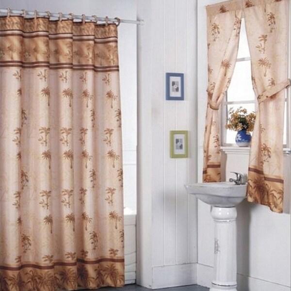 Desert Palm Shower Curtain Set and 4-piece Window Set