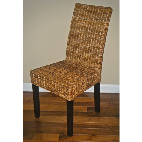 International Caravan 'Laktas' Twisted Abaca Chairs (Set of 2)