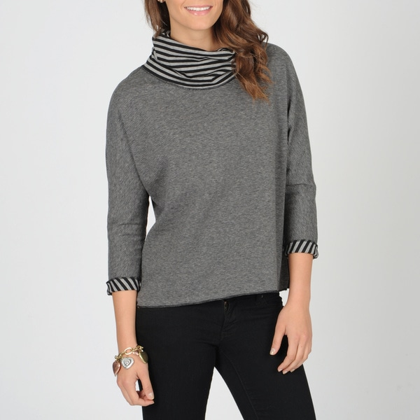 Hanna & Gracie Women's Striped Cowl Neck Top