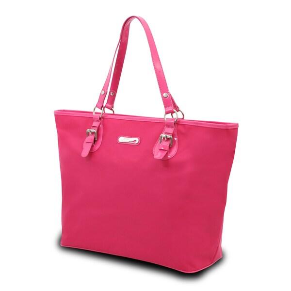 Gottex Women's Pink Laptop Shoulder Tote Bag