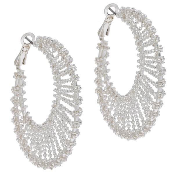 Alexa Starr Wire-wrapped Crescent Earrings
