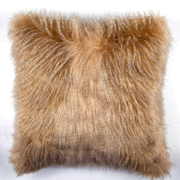 JAR Designs 'Golden Feather Fur' Throw Pillow