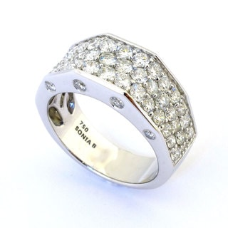 Sonia Bitton 18k White Gold 1 7/8ct TDW Pave Diamond Ring (G-H, SI1-SI2)