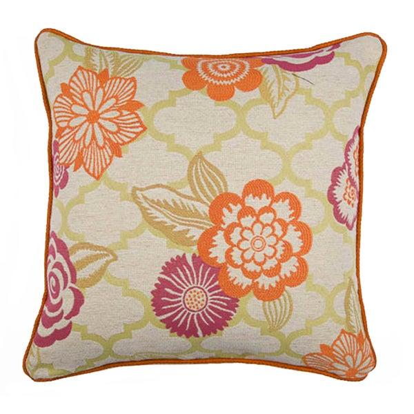 JAR Designs 'Rashida Pink/ Orange' Throw Pillow