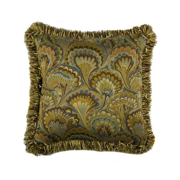 JAR Designs 'Peacock Feather' Throw Pillow