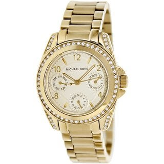 Link to Michael Kors Women's MK5639 'Blair' Gold-Tone Watch - Gold Similar Items in Women's Watches