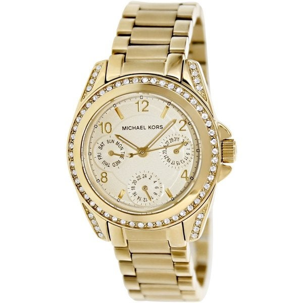 michael kors women 39 s mk5639 39 blair 39 gold tone watch free. Black Bedroom Furniture Sets. Home Design Ideas
