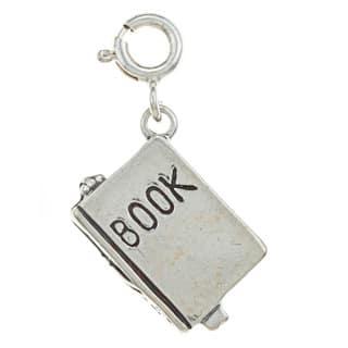 Sterling Silver Book Charm|https://ak1.ostkcdn.com/images/products/7511458/7511458/Sterling-Silver-Book-Charm-P14951652.jpg?impolicy=medium