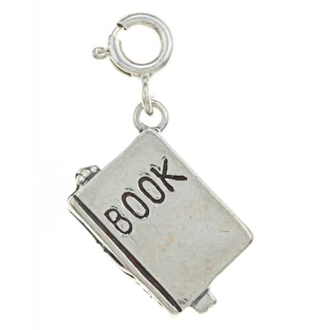 Sterling Silver Book Charm