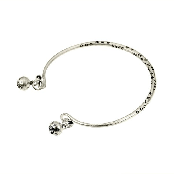 DiamondJewelryNY Eye Hook Bangle Bracelet with a Miraculous Charm.