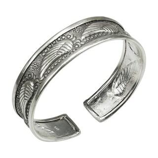 Handmade Beautiful Wings Thai Karen Fine Silver Bracelet Cuff (Thailand)