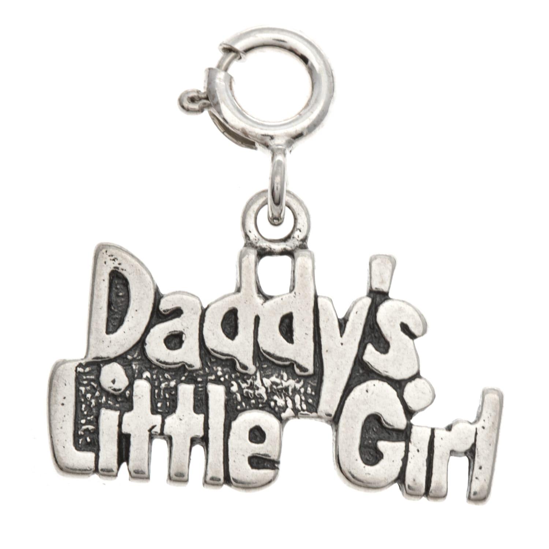 Sterling Silver 'Daddy's Little Girl' Charm (Daddy's Litt...