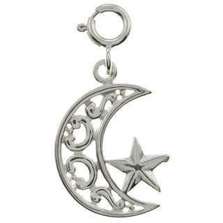 Sterling Silver Moon and Star Charm
