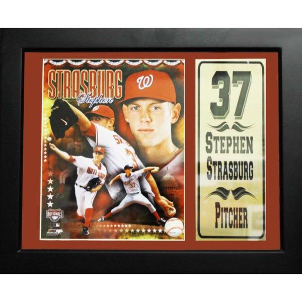 Stephen Strasburg Washington Nationals 11x14-inch Deluxe Stat Frame