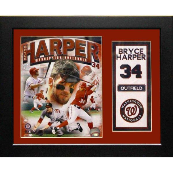 Washington Nationals Bryce Harper 11x14 Deluxe Frame