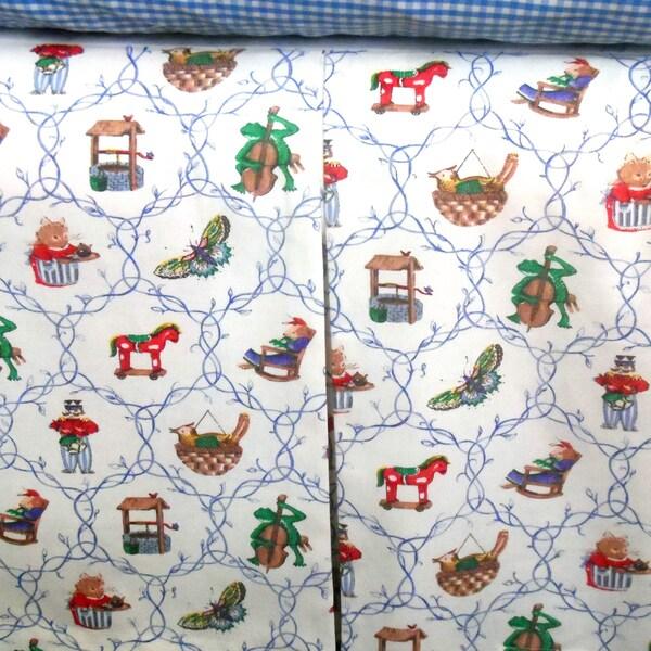 White Pictorial Crib Skirt