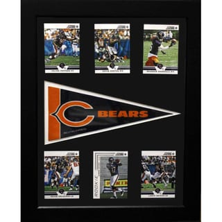 Chicago Bears 6-card with Pennant 12x18-inch Frame