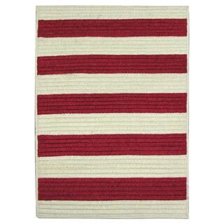 Nautical Stripe Red Indoor/ Outdoor Runner Rug (2' x 9')