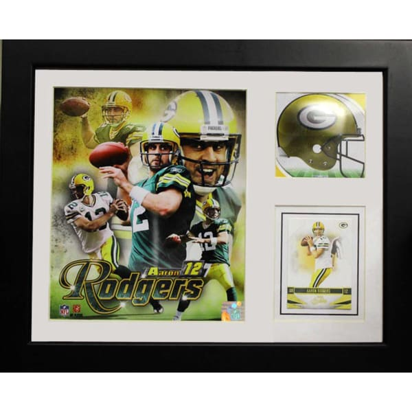 Aaron Rodgers Green Bay Packers 11x14-inch Deluxe Stat Frame with Card
