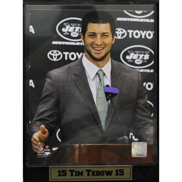 Tim Tebow New York Jets 9x12-inch Photo Plaque