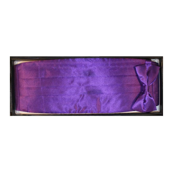 Ferrecci Men's Purple Cummerbund/ Necktie Set