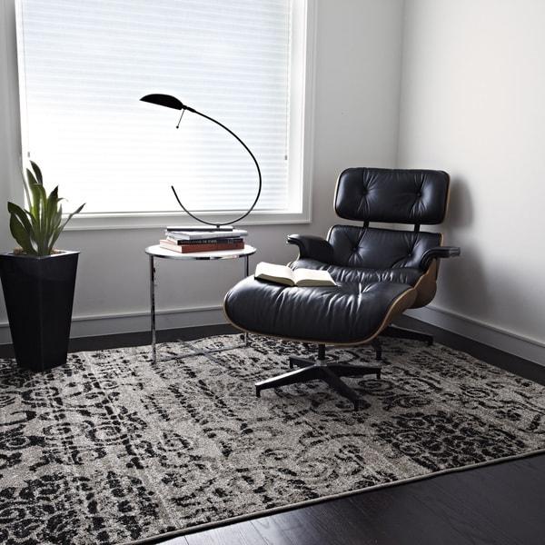 Arrakis Beige/ Charcoal Rug (5'2 x 7'7)