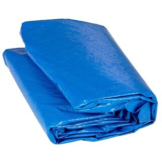 12-foot Round Blue Trampoline Protection Cover