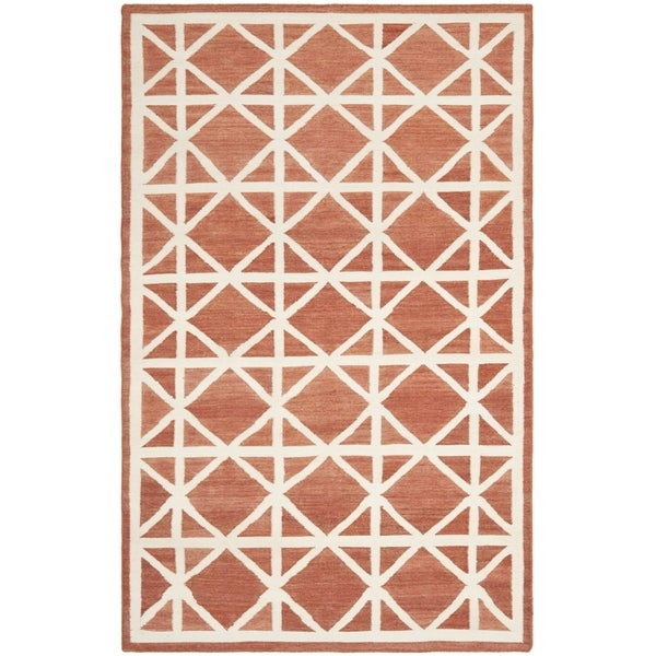 Safavieh Handwoven Moroccan Reversible Dhurrie Red Wool Area Rug