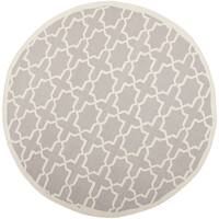 Safavieh Handwoven Moroccan Reversible Dhurrie Grey Contemporary Wool Rug - 6' x 6' Round