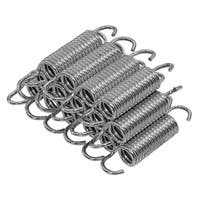 """Upper Bounce 3.5"""" Trampoline Springs, heavy-duty galvanized, Set of 15 (spring size measures from hook to hook)"""
