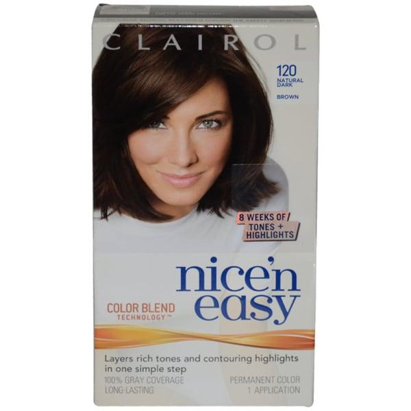 Clairol Nice'n Easy Color Blend Natural Dark Brown Hair Color