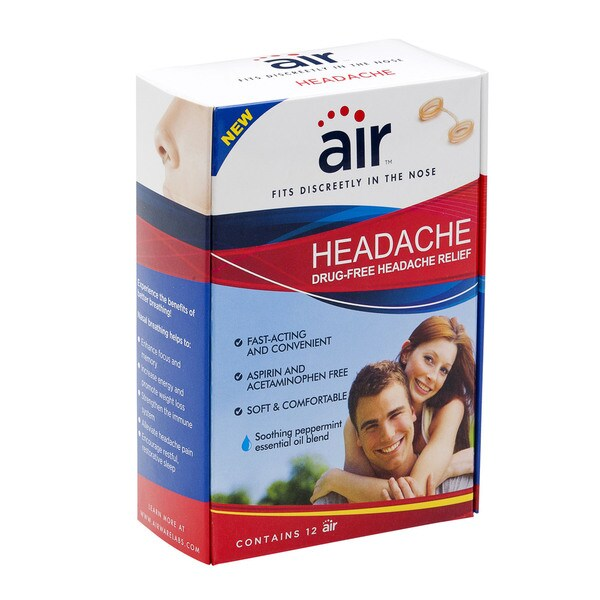 Air Drug-free Headache Relief Nasal Breathing Aid (Pack of 12)