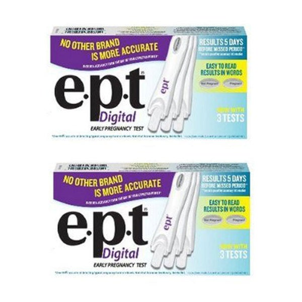 E.P.T. 3-pack Digital Pregnancy Test (Pack of 2)