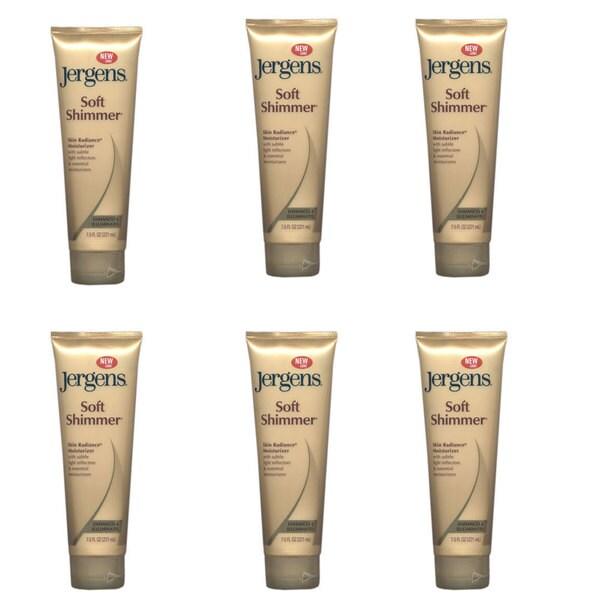 Jergens Soft Shimmer Skin Radiance Moisturizer 7.5-ounce Tube (Pack of 6)