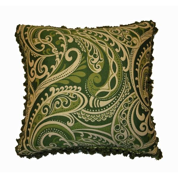 JAR Designs 'Paisley Green' Throw Pillow