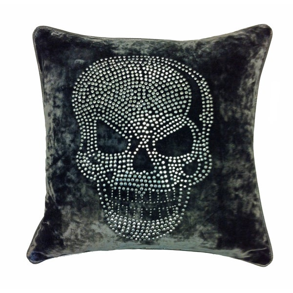 Oversized Decorative Pillow Ideas : JAR Designs Large Skull-Grey Throw Pillow - Free Shipping Today - Overstock.com - 14952084