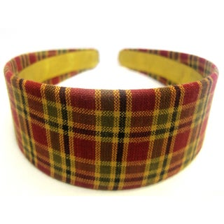 Crawford Corner Shop Red Navy Gold Plaid Headband